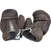 Vintage Edward K. Tryon Co. Leather Boxing Gloves
