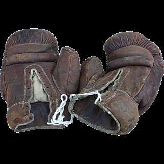 Vintage Edward K. Tryon Co. Leather Boxing Gloves