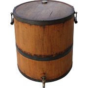 19th Century Wood Staved Kerosene Can
