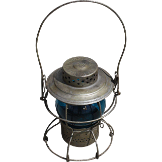 Pennsylvania Railroad Blue Globe Lantern