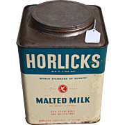 Vintage Horlick's Advertising Tin