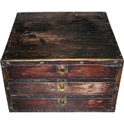 Early Primitive 3 Drawer Cabinet