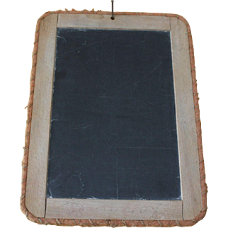 Early  Childs Stitched School Slate Board