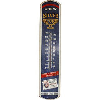 Vintage Silver Cup Tobacco Thermometer