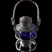 Pennsylvania Railroad Adlake Cobalt Blue Globe Lantern