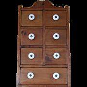 Vintage Seven Drawer Hanging Spice Cabinet