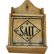 Vintage Original Hanging Salt Box