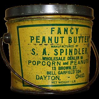 Vintage Dayton, Ohio Peanut Butter Tin Pail