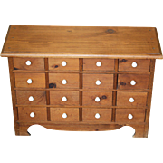 Vintage 16 Drawer Apothecary Chest