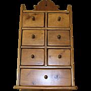 Vintage 7 Drawer Spice Cabinet