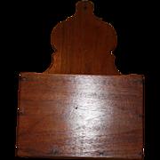 Large Primitive Walnut Wall Box