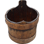 Early Primitive Wood Staved Bucket