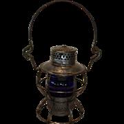 Pennsylvania Railroad Dressel Cobalt Blue Lantern
