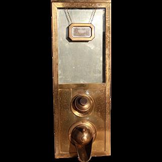 Art Deco Style Brass Coffee Bean Store Dispenser