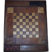 Unique 19th Century Hand Crafted Checker Board