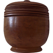 Large Turned Treenware Spice Jar