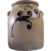 Burlington, VT 2 gallon Stoneware Crock