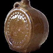 Canteen Style Stoneware Whiskey/Wine Jug