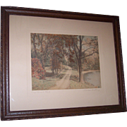 Wallace Nutting (1861-1941) Hand-colored Photographic Print