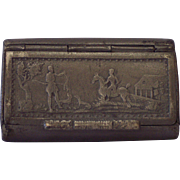 19th Century Pewter Snuff Box