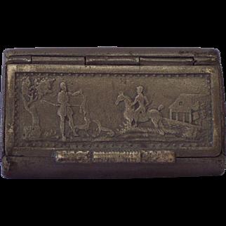 19th Century Pewter Snuff Box