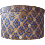 19th Century Wall Papered Hat Box