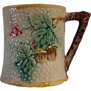 Majolica Twig Handled Mug