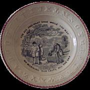 19th Century ABC Plate