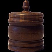 Vintage Treenware Lidded Spice Box