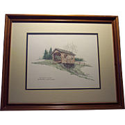 "Wilmington Vt Pencil Drawing - Titled ""The Shortest Bridge"""