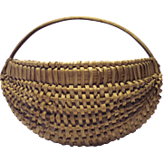 19th Century Woven Oak Splint Basket