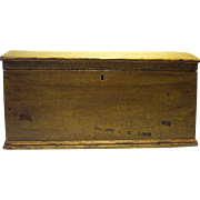 Antique Dome Top Chest in Dark Mustard Yellow Paint