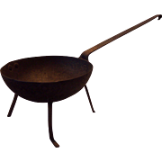 Early Wrought Iron Spider Leg Pan/Pot