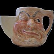 Vintage Sandland Character Ware Before & After, Earthenware Shaving Mug