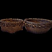 Pair of Northeastern Woodlands Native American  Baskets