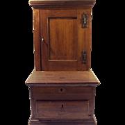19th Century Token and Cash Box Cupboard