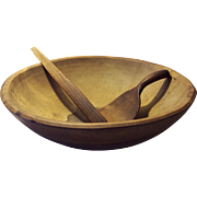 Large Turned Maple Treenware Bowl with Accessories