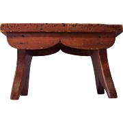 Early New England Mortise and Tenon Cricket/Footstool