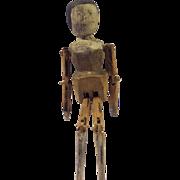 Hand Carved Folk Art Jig Doll