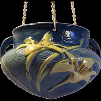 Roseville Pottery Zephyr Lily Hanging Planter