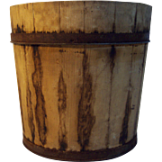 Vermont Metal Strapped Wood Sap Bucket