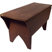 19th Century Footstool/Bench with Drawer Skirt