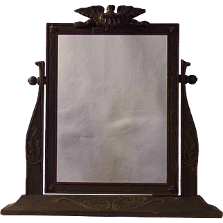Carved Americana Stand-Alone Picture Frame
