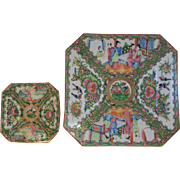 Chinese Export Porcelain - Rose Medallion Plates