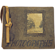 Early Impressed Leather Photo Album