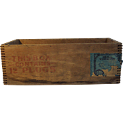 Early 1900's Climax Thick Tobacco Shipping Crate
