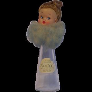 Vintage Cecilia Doll Head Topped Shampoo Bottle