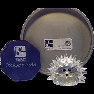 Vintage Swarovski Crystal Hedgehog