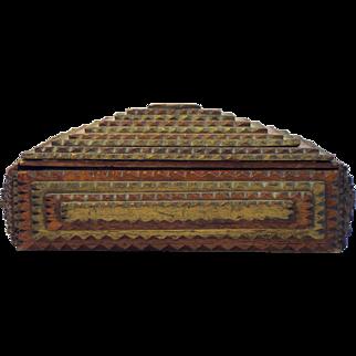 Tramp Art Cigar Box