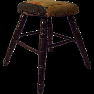 19th Century Turned & Painted Stool